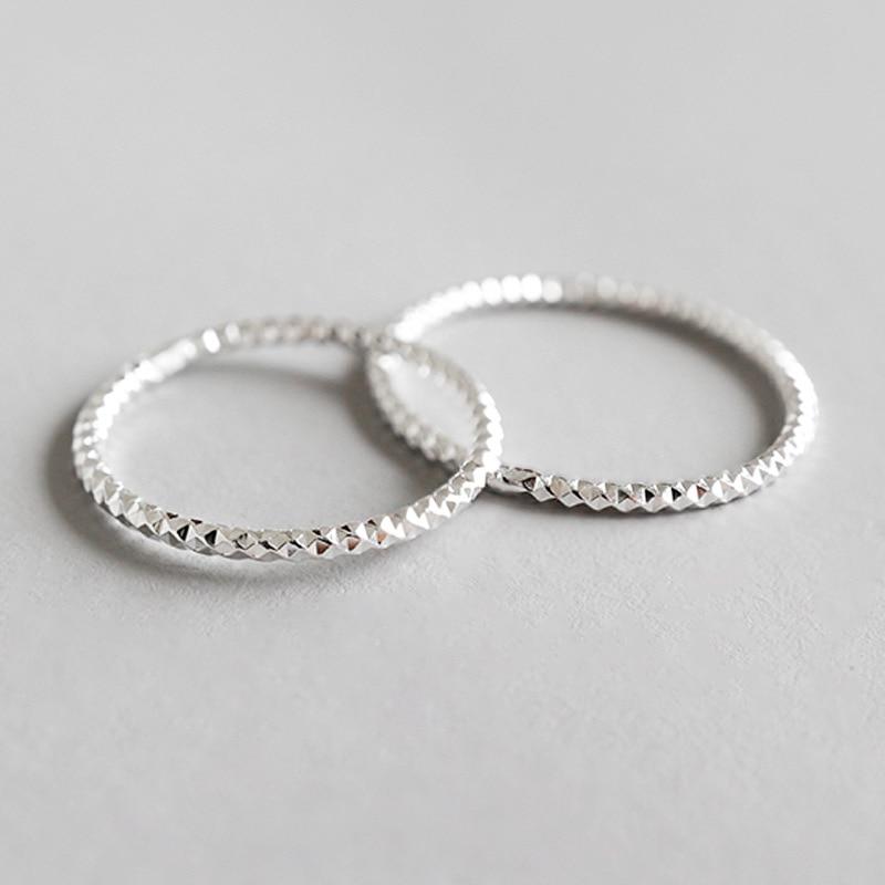 [해외]Real 925 sterling silver narrow joint rings for women accessories anillos mujer, minimalist geomtric ring silver jewelry 2019/Real 925 sterling si
