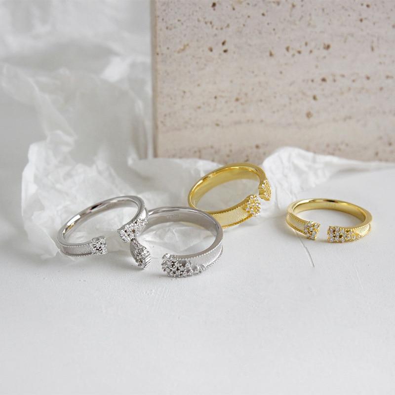 [해외]Real 925 sterling silver crystal engagement rings for women accessories anel, sweet wedding ring best friends gift jewelry 2019/Real 925 sterling