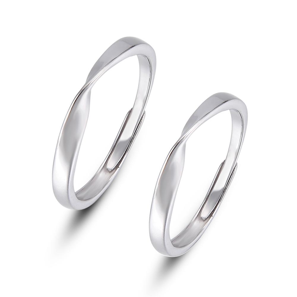 [해외]Retro Jewelry Simple Solid Open Cuff Wedding Band Rings 925 Sterling Silver Rings for Women Men Engagement Ring Set Couple Rings/Retro Jewelry Sim