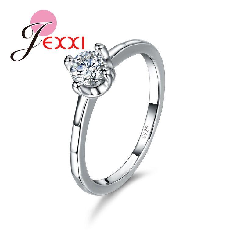 [해외]핫 세일 925 스털링 실버 웨딩 회의 반지 JEXXI AAA + 큐빅 지 르 코니 아 반짝이 크리스탈 광장 약혼 쥬얼리/Hot Sell 925 Sterling Silver Wedding Meeting Rings JEXXI AAA+ Cubic Zirconia S