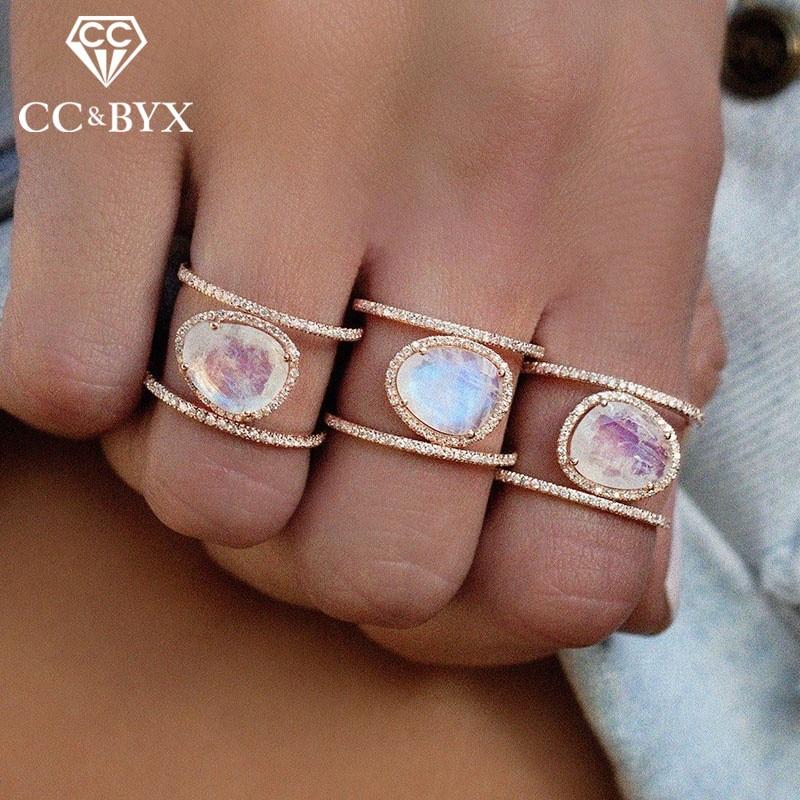 [해외]CC 유행 보석 반지 불규칙한 자연 문스톤 우아한 기념일 파티 선물 액세서리 ping CC2132/CC Trendy Jewelry Rings For Women Irregular Natural Moonstone Elegant Anniversary Party Gif