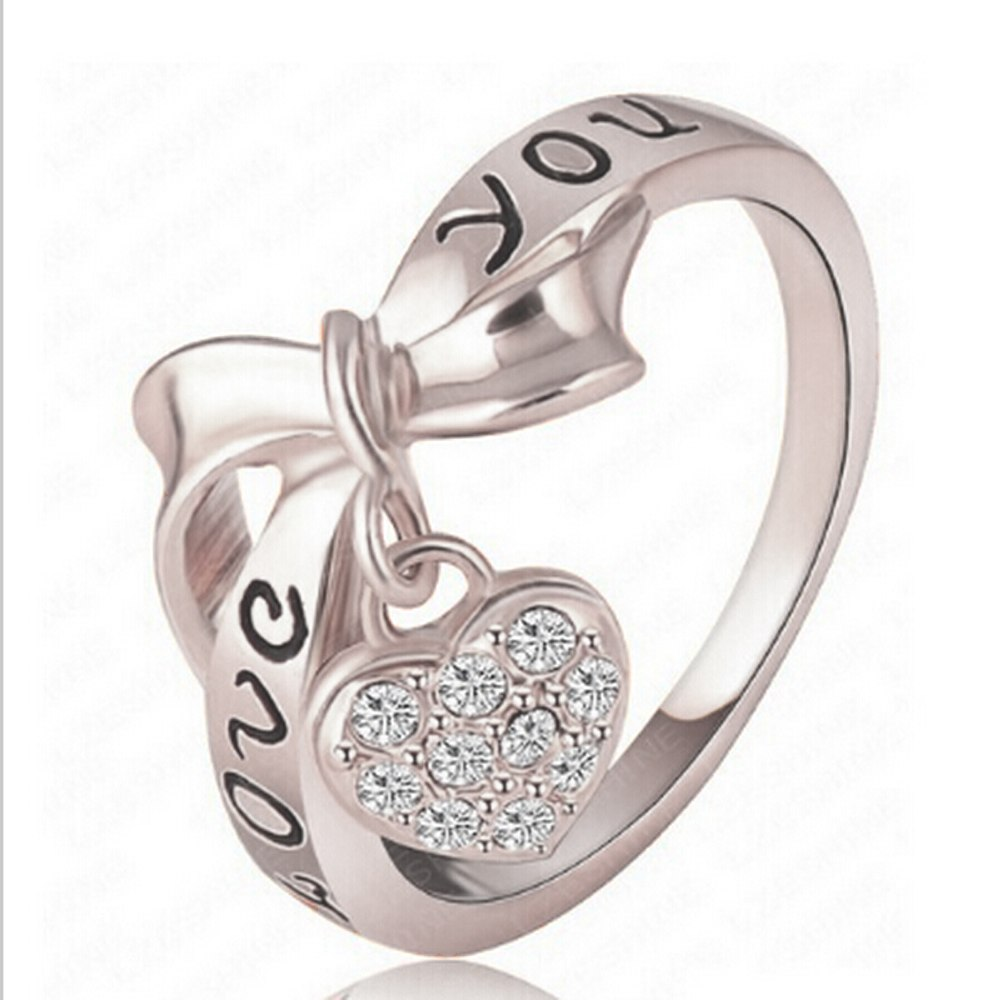 [해외]/Jewelry silver ring silver fashion jewelry heart lock ring fashion desgin high quality Wholesale Dropshipping