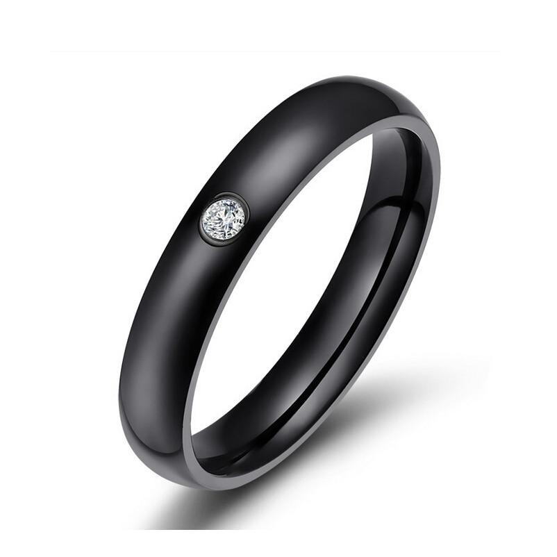 [해외]fashion CZ wedding rings for women stainless steel engagement jewelry 4 color /fashion CZ wedding rings for women stainless steel engagement jewel