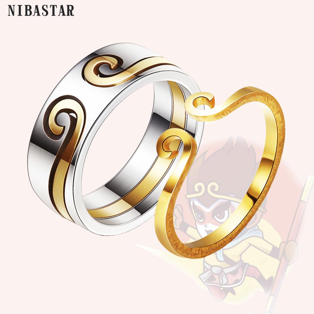 [해외]Best Selling Monkey King Gold And Silver Color Couple Rings 2 In 1 Rings Classic Design For Lovers` Valentine`s Day present/Best Selling Monkey Ki