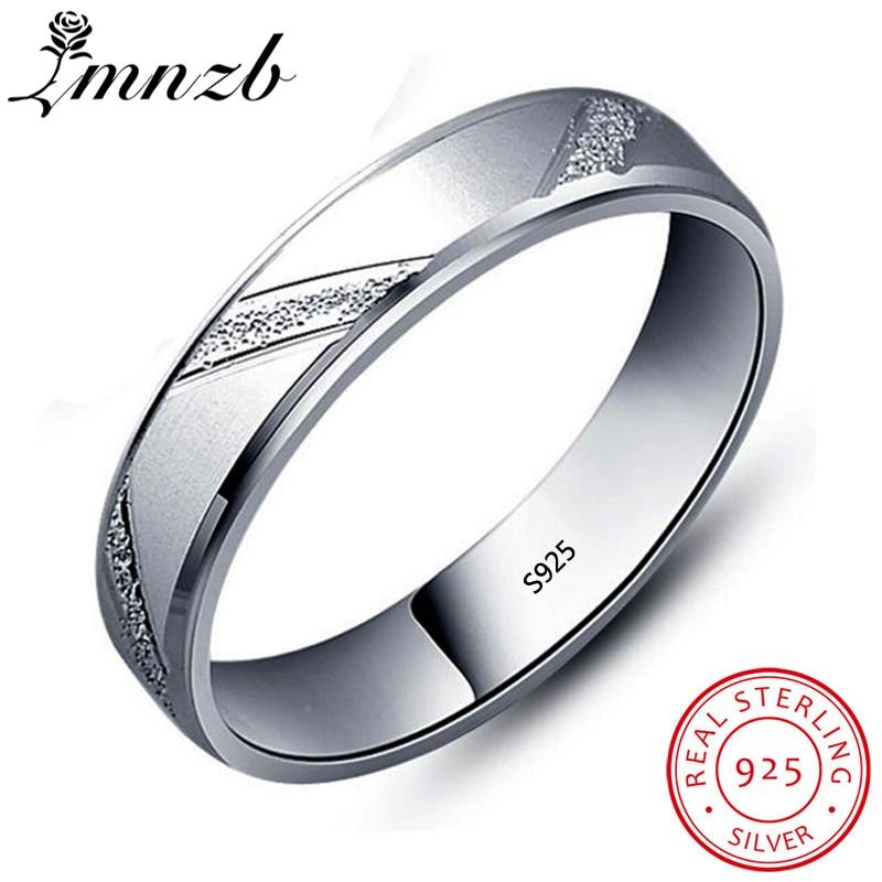[해외]LMNZB New Design Fashion Wedding Rings Original 925 Sterling Silver Frosted Scrub Rings For Women Men Couple Jewelry Gift LRG48/LMNZB New Design F