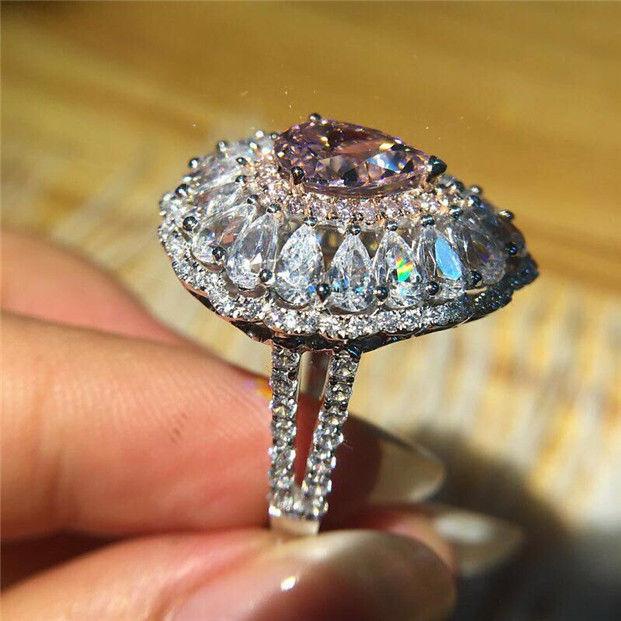 [해외] Fashion White Alloy Jewelry Women Wedding Engagement Ring Popular grace Classic Originality new style ring Size 6-10/ Fashion White Alloy Jewelry