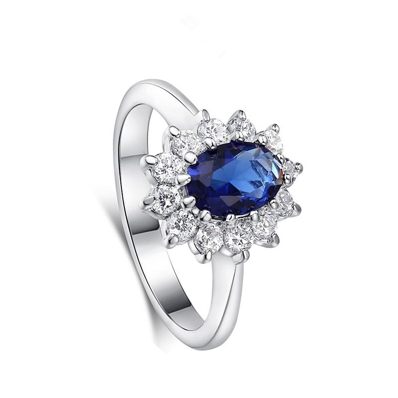 [해외]Wedding Rose Gold Silver Color Rings Zircon Red Blue Stone Ring For Women Party lady Jewelry Dropshipping/Wedding Rose Gold Silver Color Rings Zir