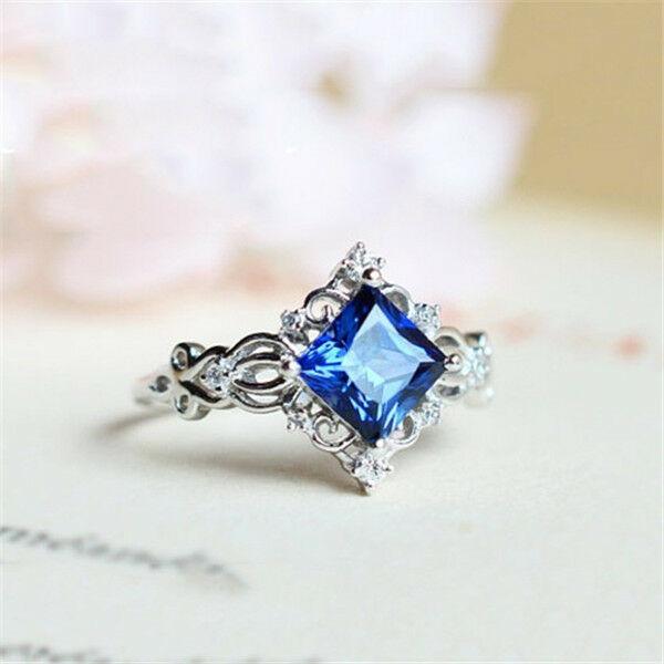 [해외]Women Ring Blue Fashion Men Wedding Party Ring Size 6-10 delicate grace Popular fashion Classic Sweet Anniversary /Women Ring Blue Fashion Men Wed