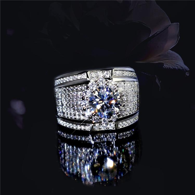 [해외]Luxury fashion white zircon Ring Non-allergenic for Men Jewelry Wedding engagement party ring  Mens rings/Luxury fashion white zircon Ri