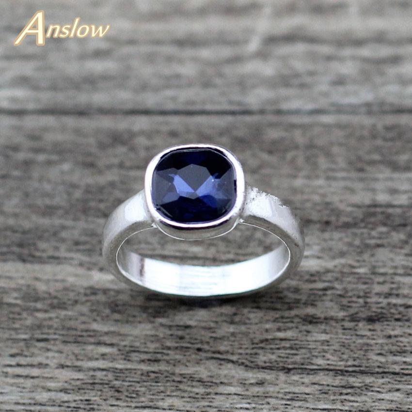 [해외]Anslow 2019 Brand Trendy New Cute Female Square Crystal Wedding Rings For Couples Lovers Women Engagement Jewelry LOW0008AR/Anslow 2019