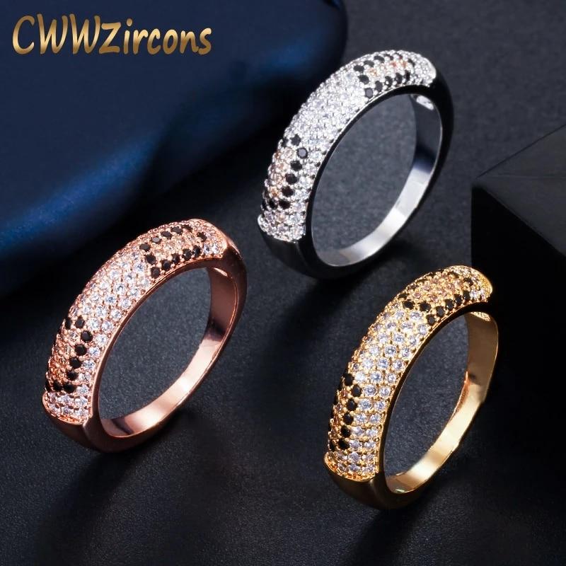 [해외]CWWZircons Fashion Cubic Zirconia Pave Silver and Rose Gold Color Engagement Wedding Love Snake Rings for Women Jewelry R139/CWWZircons