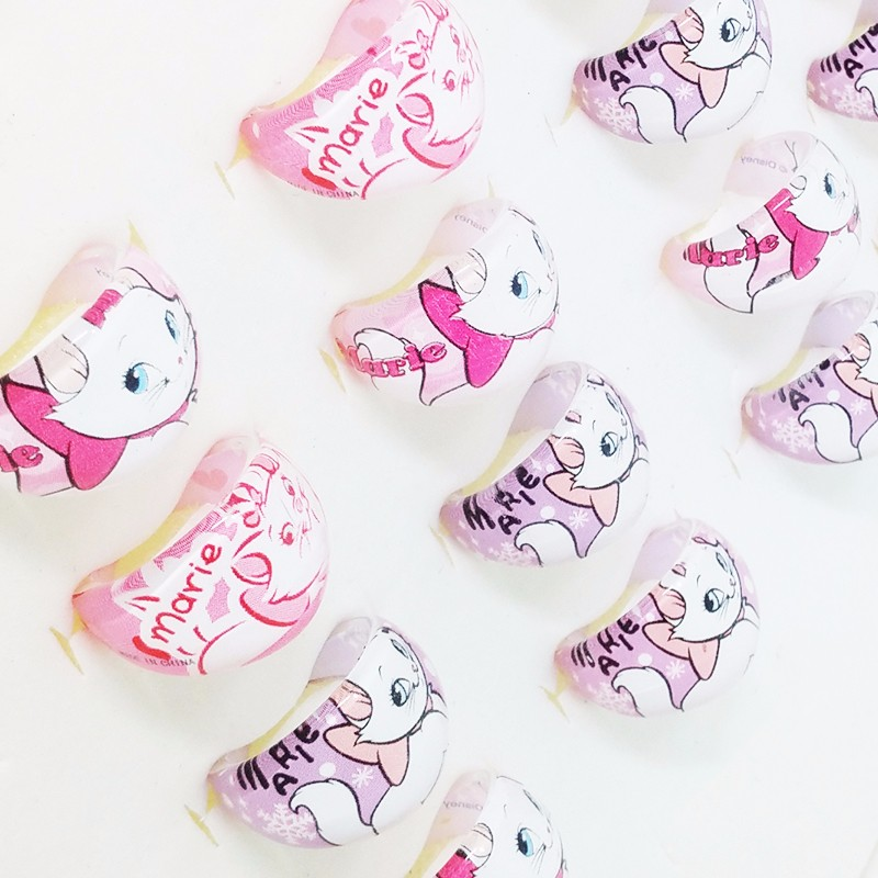 [해외]도매 많이 믹스 20pcs 패션 귀여운 만화 귀족의 아이 반지 여자 아기 마리 링 생일 파티 선물/Wholesale Lots Mix 20pcs Fashion Cute Cartoon The Aristocats Kids Ring Girls baby Marie Rin