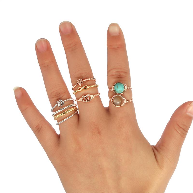 [해외]듀얼 비즈 링 작은 매력 골드 컬러 조인트 링 하트 스타 리프 달 bowtie 희망 소원 믿음 사랑 Etsy에 대한/DUOYING Tiny Bead RingSmall Charms Gold color Joint Rings Heart star leaf moon bo