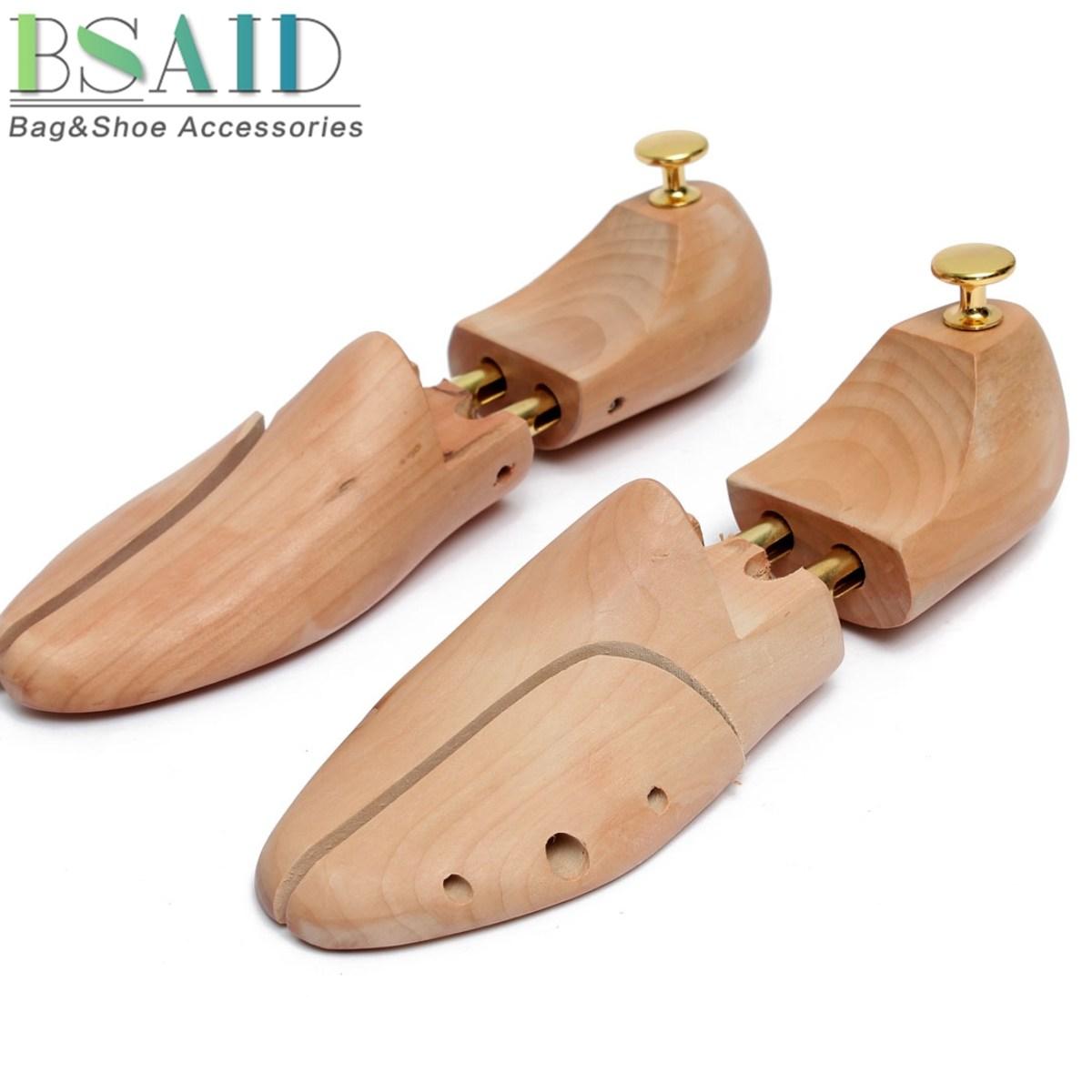 <span style=''>[해외]BSAID 1Pair 목재 신발 들것 신발 트리 셰이퍼 랙, 조절 가능한 전문 펌프..</span>