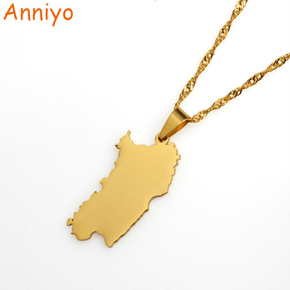 [해외]Anniyo Italy 사르데냐 펜던트와 목걸이 골드 컬러 트렌디 한 Sardegna / Sardaigne 쥬얼리 선물 015021/Anniyo Italy Sardinia Pendant and Necklace Gold Color Trendy Sardegna/Sa