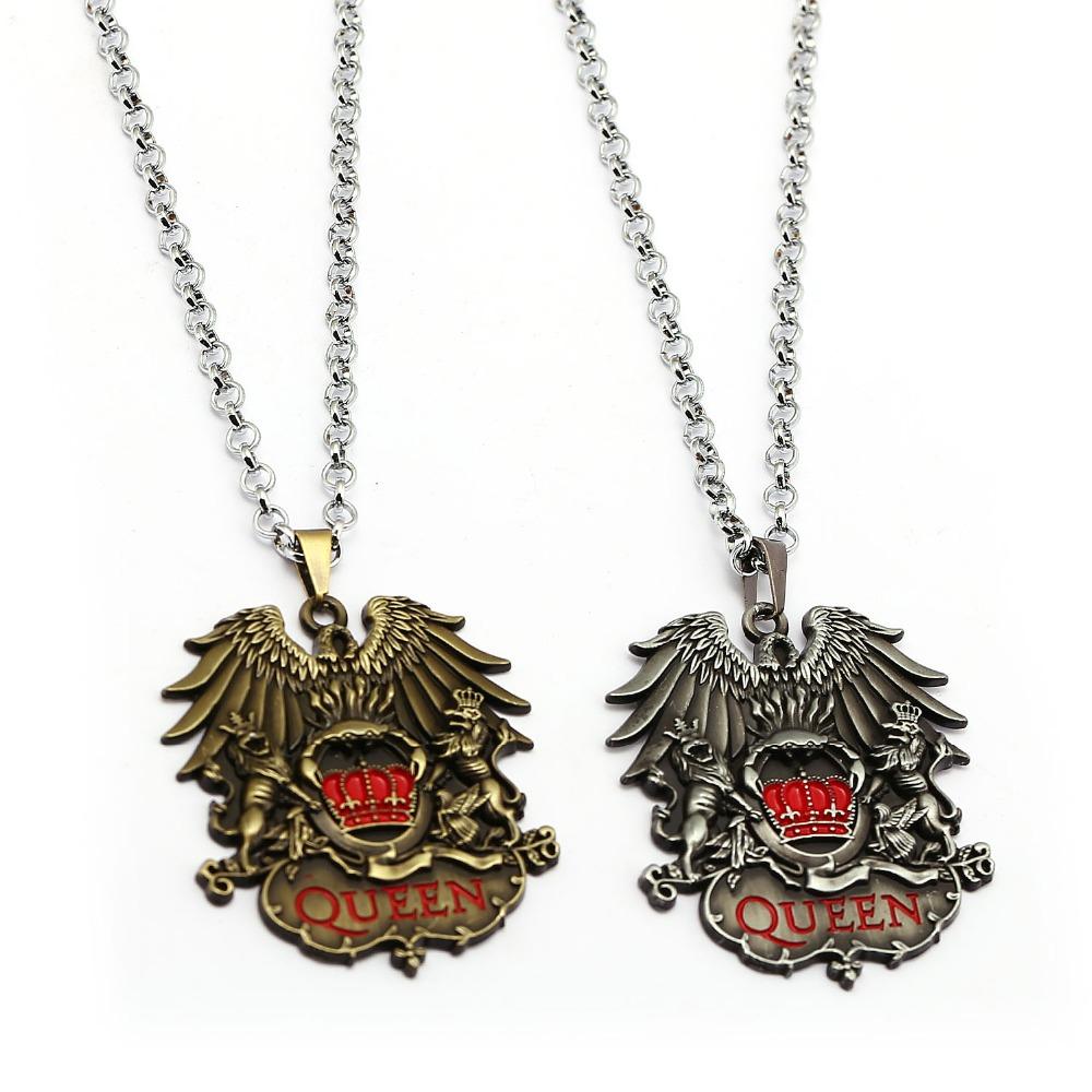 [해외]락 밴드 퀸 목걸이 음악 밴드 펜던트 패션 링크 체인 목걸이 여성 남성 챠트 선물 쥬얼리/Rock Band Queen Necklace Music Band Pendant Fashion Link Chain Necklaces Women Men Charm Gifts J