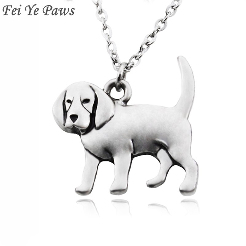 [해외]Fei Ye Paws 펑크 비글 & amp; Coonhound 개 매력 부티크 목걸이 목걸이 스테인레스 스틸 긴 초커 목걸이 여자 여자 쥬얼리/Fei Ye Paws Punk Beagle & Coonhound Dog Charms Pendant Nec