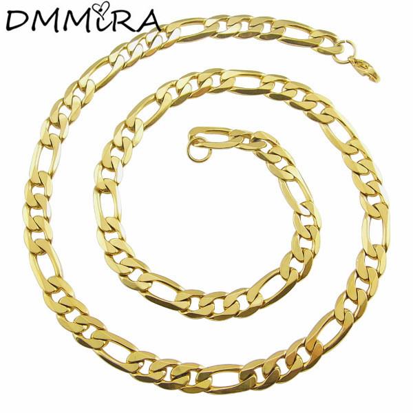 [해외]?패션 남성 링크 체인 목걸이 골드 316L 스테인레스 스틸 꼰 뱀 쿠바 체인 목걸이 보석 남성용/ Fashion Male Link Chain Necklace Gold 316L Stainless Steel Braided Snake Cuban Chain Neckl
