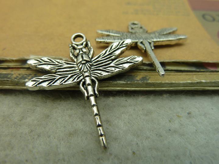 [해외]10Pcs 골동품 실버 잠자리 매력 펜던트 보석 결과/10Pcs Antique Silver Dragonfly Charm Pendant Jewelry Findings