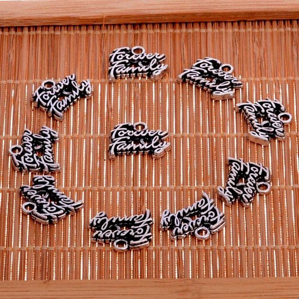 [해외]10PCs / lot 목걸이에 대 한 영원히 가족 부적 펜 던 트 쥬얼리 팔찌 열쇠 고리 열쇠 고리 액세서리 크리스마스 선물/10PCs/lot Forever Family Charms Pendant For Necklace Jewelry Bracelet Keycha