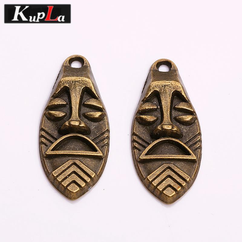 [해외]Kupla 빈티지 금속 이스터 섬 Moai 매력 패션 DIY 쥬얼리 복고 종교 Moai 펜던트 매력 20pcs C5858/Kupla Vintage Metal Easter Island Moai Charms Fashion DIY Jewelry Retro Religi