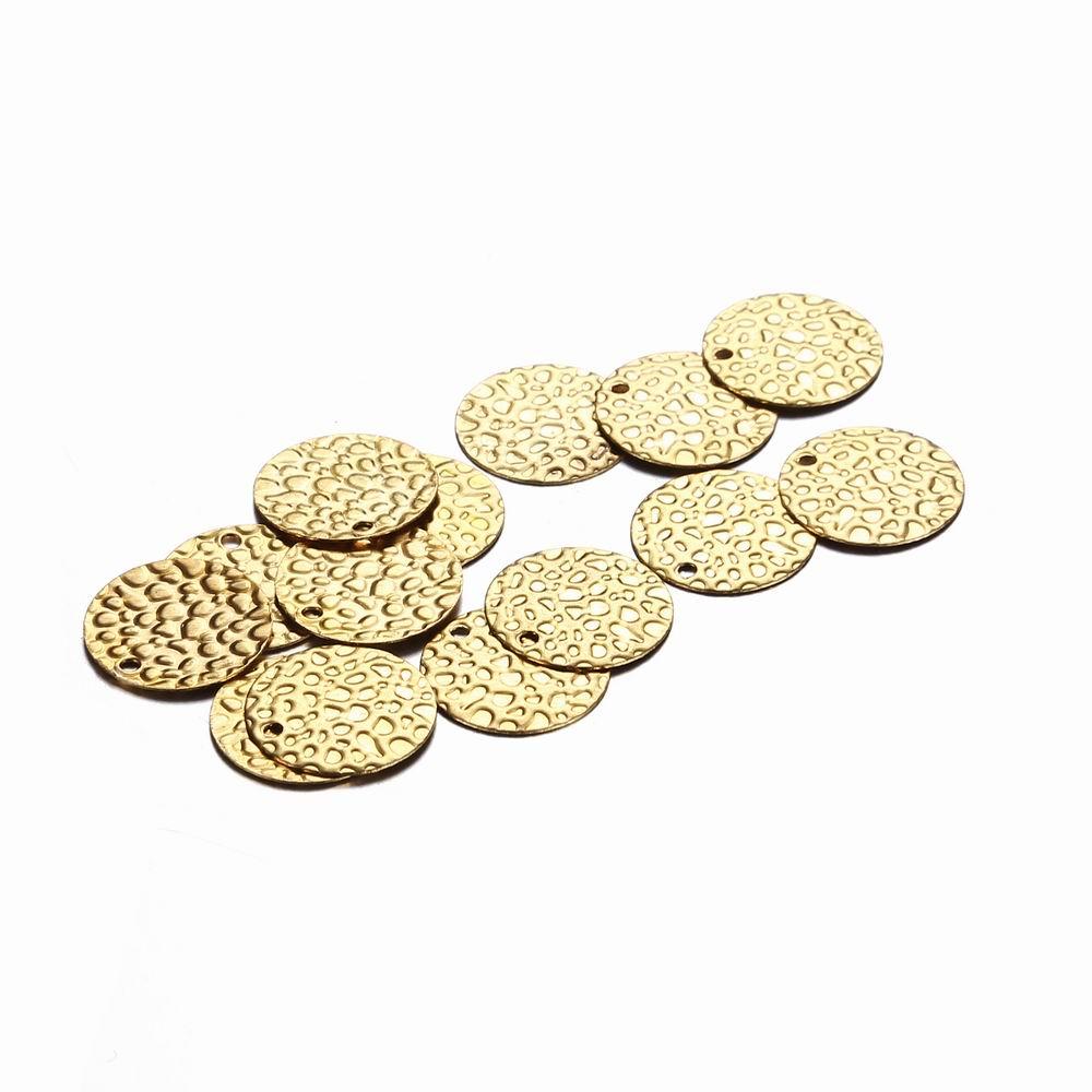 [해외]20Pcs / Lot 13mm 간단한 동전 스타일 울퉁 불퉁한 Pattren 펜던트 둥근 시트 펜던트 쥬얼리 매력 DIY 액세서리 만들기/20Pcs/Lot 13mm Wholesale Simple Coin Style Bumpy Pattren Pendant Roun