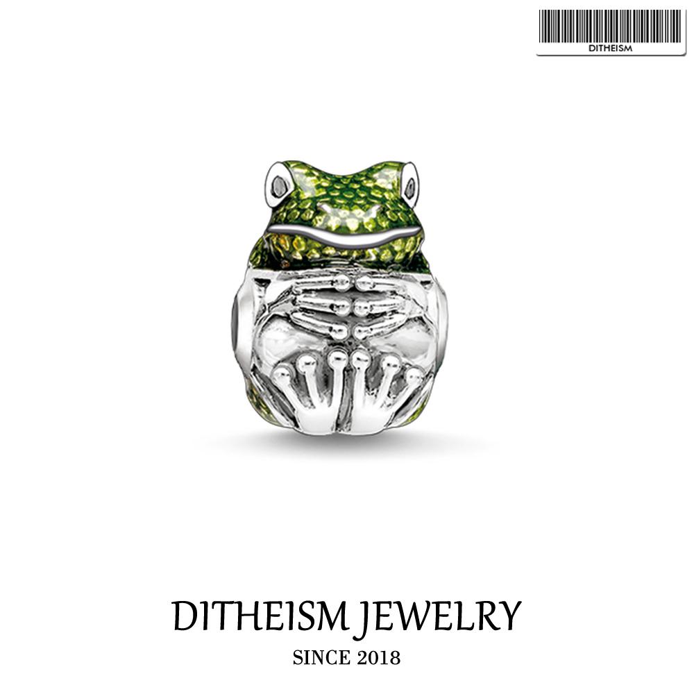 [해외]DIY 구슬 녹색 개구리 매력 5mm 구멍, 2018 여성을유행은 보석 유행 선물 남자 소년 소녀는 팔찌 목걸이를 적합하다/DIY Beads Green Frog Charm 5mm Hole,2018 Fashion Silver Jewelry Trendy Gift F