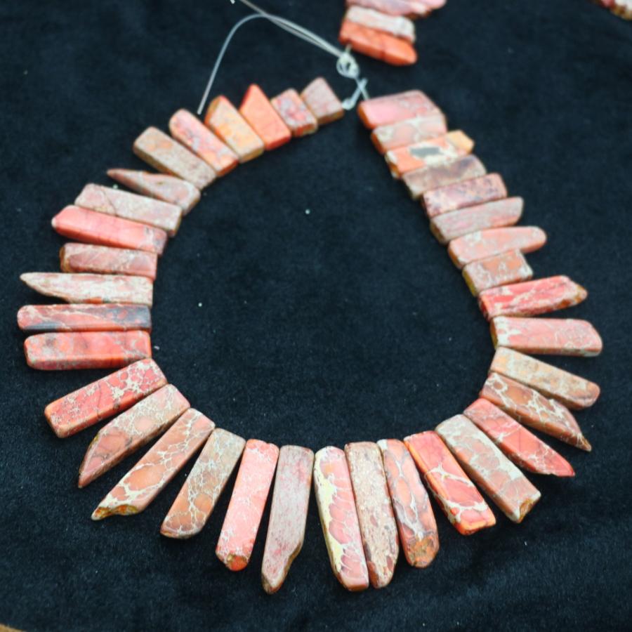[해외]?오렌지 보석 스톤 목걸이 포인트 펜던트 비즈, 탑 드릴 여성 패션 쥬얼리 스파이크 DIY 찾기 보석 만들기/ Orange Gems Stone Necklace Point Pendant Beads, Top Drilled Women Fashion Jewelry Sp