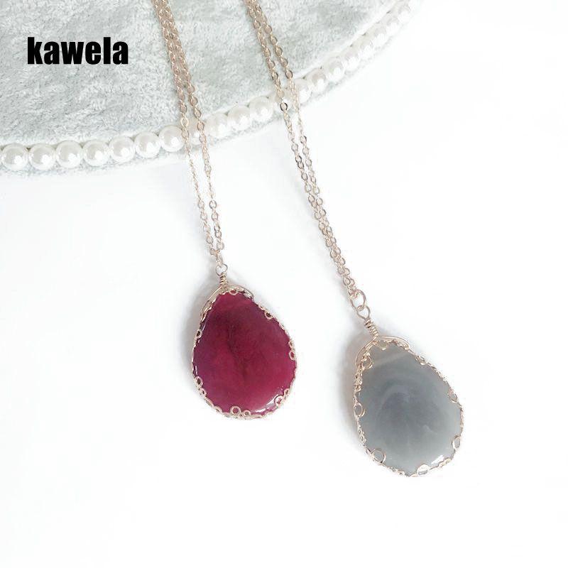 [해외]?새로운 달콤한 우아한 롱 펜던트 티어 드롭 목걸이/ New Sweet Elegant Long Pendant Teardrop Necklace
