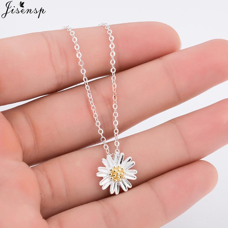 [해외]Jisensp 빈티지 보석 눈부신 데이지 롱 펜던트 목걸이 여성을실버 쥬얼리는 패션 꽃 문 목걸이를 collishes/Jisensp Vintage Jewelry Dazzling Daisy Long Pendant Necklace for Women Silver Je
