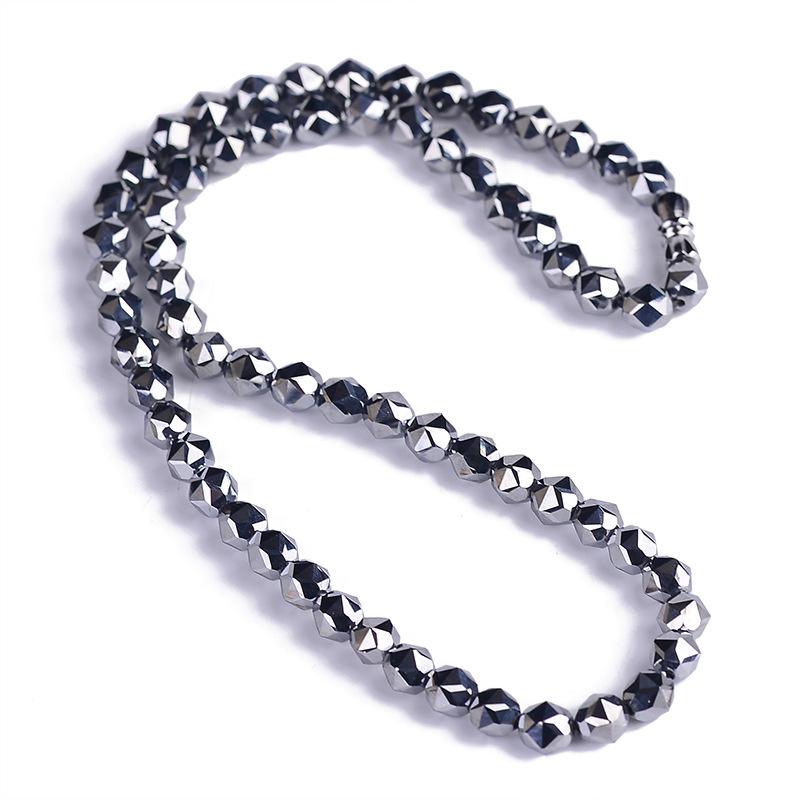 [해외]도매 테라 헤르츠 천연 석재 목걸이 에너지 스톤 일본과 한국 스타일의 패싯 비즈 목걸이 건강한 패션 주얼리/Wholesale Terahertz Natural Stone Necklace Energy Stone Japan and Korean Style Facet B
