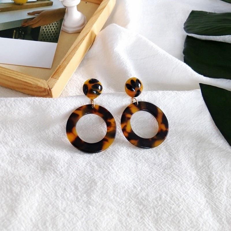 [해외]?달콤한 거북 원형 Hot 인기있는 수지 귀걸이/ Sweet Tortoise Round Hot Popular Resin Earring