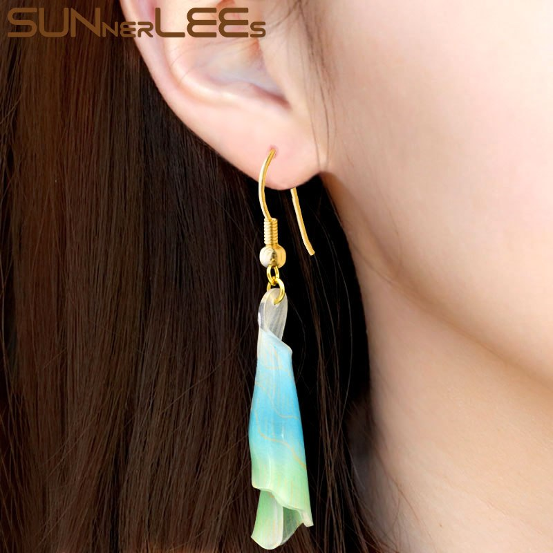 [해외]SUNNERLEES 여성을패션 쥬얼리 수지 드롭 귀걸이 드롭 꽃 꽃 선물 RE01/SUNNERLEES Fashion Jewelry Resin Drop Earrings Flower Dangles For Womens Girls Gift RE01