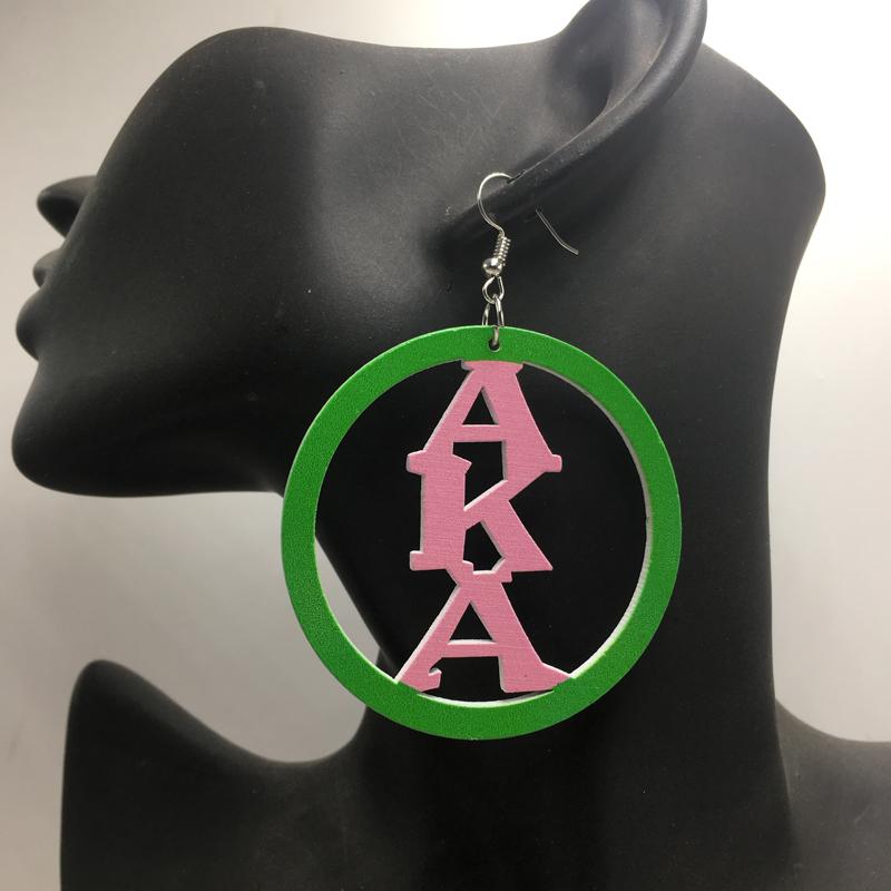 [해외]?일명 목조 인쇄 귀걸이/ AKA Wooden Printing Earrings