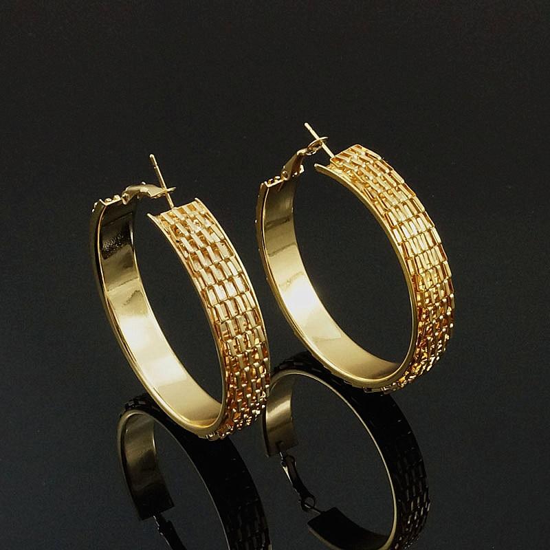 [해외]?여자를후프 귀걸이 여자 골드 컬러 라운드 패션 귀걸이 파티 선물/ Hoop Earrings For Women Girls Gold Color Round fashion Earrings Party Gift