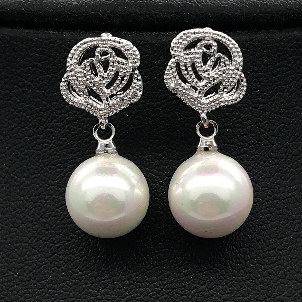 [해외]2018 꽃 껍질 여성을귀걸이에 진주 클립, 피어싱 디자인없이 구멍 귀 클립 쥬얼리/2018 flower shell Pearl clip on earrings for women,without piercing design no hole ear clip jewelry