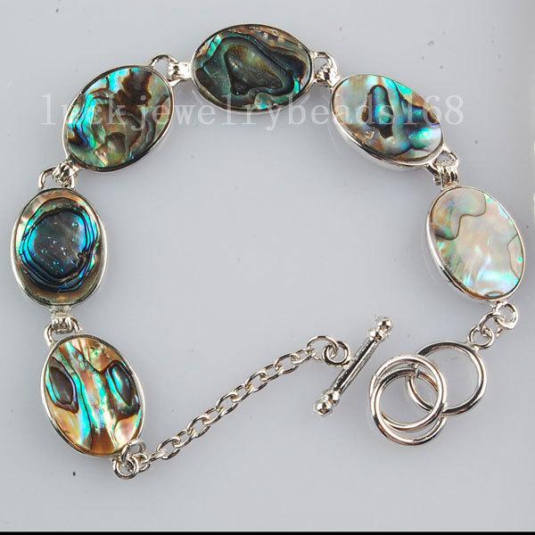 [해외]?패션 주얼리 뉴질랜드 전복 쉘 타원형 아트 팔찌 7 & FG5909/ Fashion Jewelry New Zealand Abalone Shell Oval Art Bracelet 7& FG5909