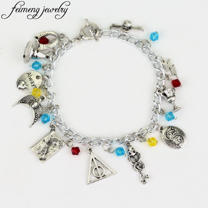 [해외]feimeng 주얼리 Hogwarts Horcrux 매력 팔찌 독수리 크라운 팔찌 모자 Slytherin 뱀 컵 액세서리 팔찌/feimeng jewelry Hogwarts Horcrux Charm Bracelet The Eagle Crown Bracelet Ha
