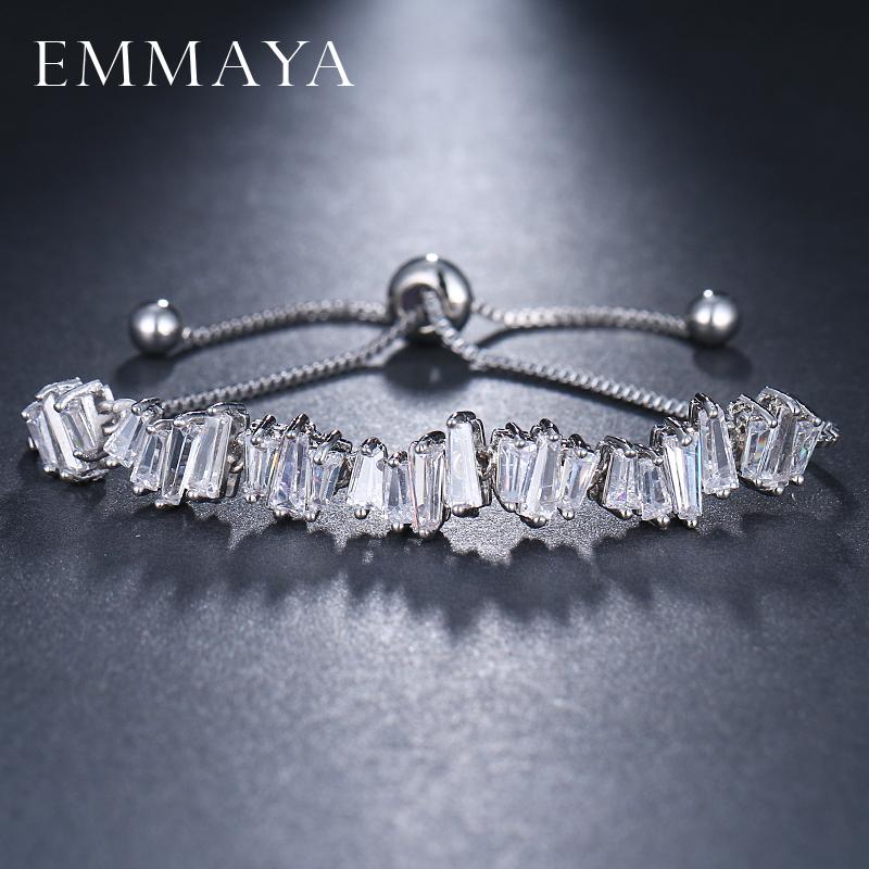 [해외]EMMAYA 패션 여성 라인 석 큐빅 지 르 코니 티 팔찌 패션 가변 팔찌 쥬얼리 좋은 팔찌 선물/EMMAYA Fashion Women Rhinestone Cubic Zirconia Bracelet Fashion Adjustable Bangles Jewelry