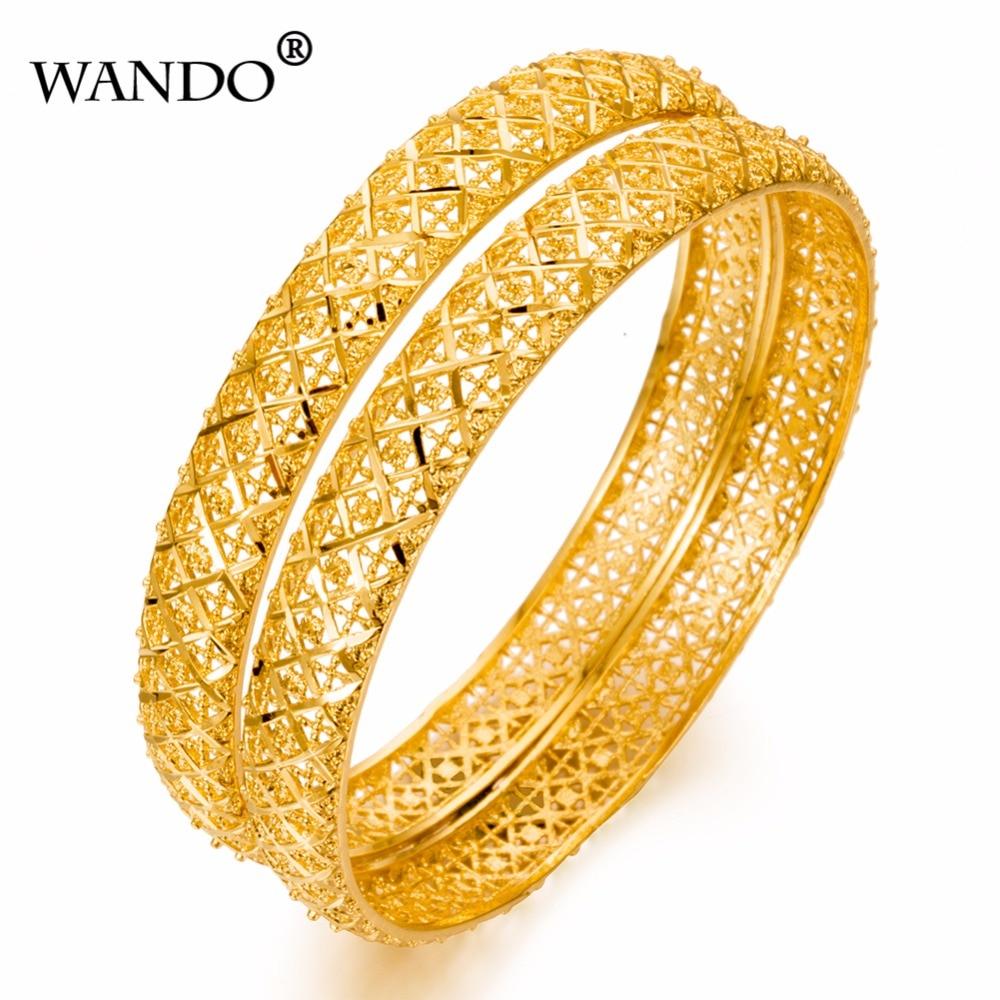 [해외]WANDO 1pcs 여성을럭셔리 에티오피아 Bangles 24k 골드 컬러 두건 뱅글 골드 컬러 쥬얼리 웨딩 팔찌 선물 WB27/WANDO 1pcs Luxury Ethiopian Bangles For Women 24k Gold Color Dubai Bangle
