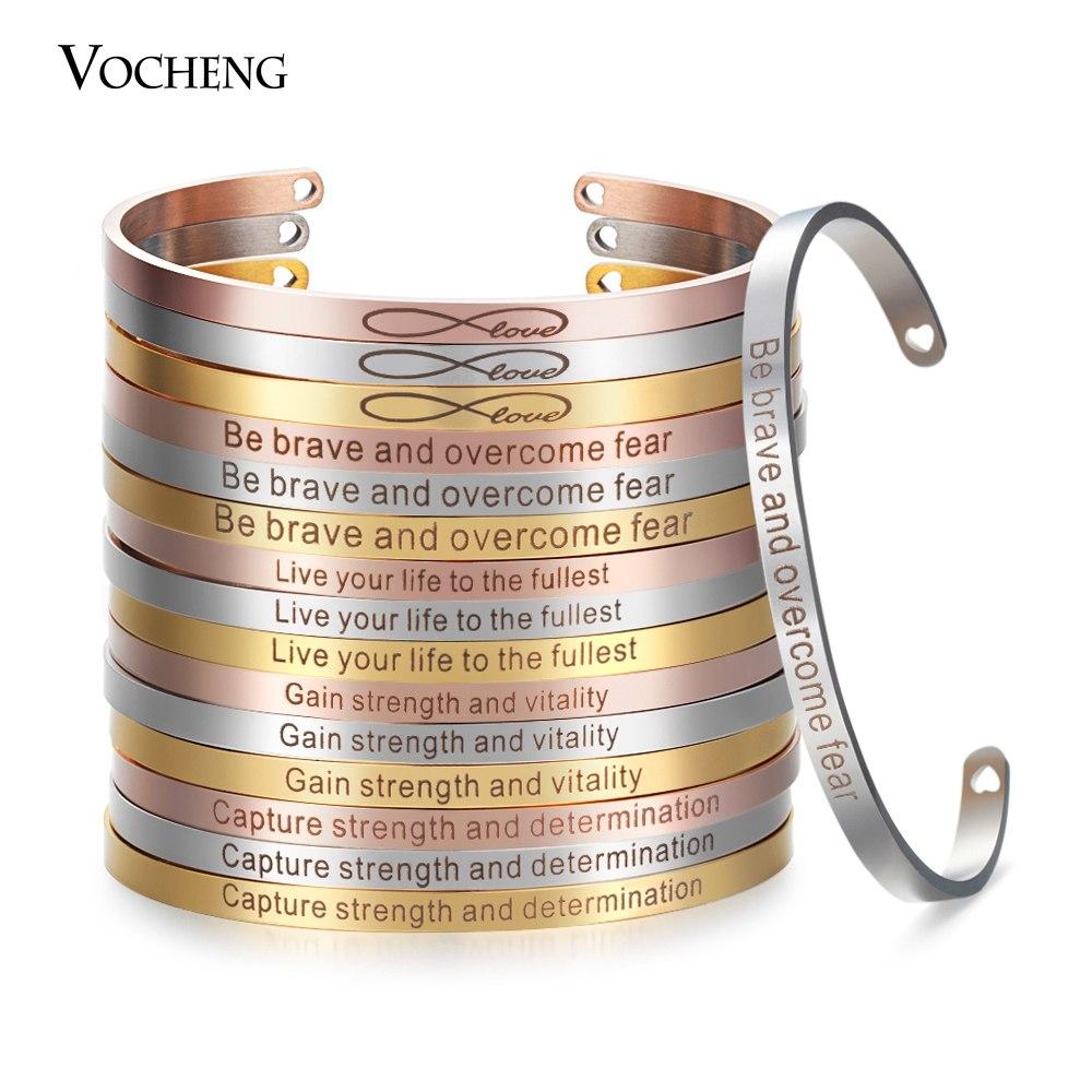 [해외]스테인레스 스틸 손으로 만트라 뱅글 조각 된 영감 팔찌 너비 4mm 팔찌 팔찌 SL-013/Stainless Steel Hand Stamped Mantra Bangle Engraved Inspirational Bracelet Width 4mm Cuff Bangl