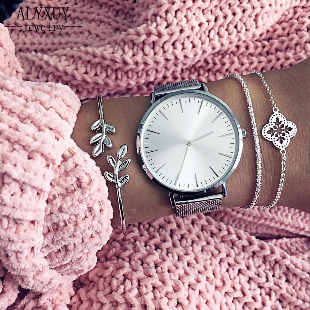 [해외]새로운 패션 보석 체인 꽃 잎 팔찌 여성을여자의 선물 세트 B0024/New fashion jewelry chain flower leaf  bangle set for women girl gift B0024