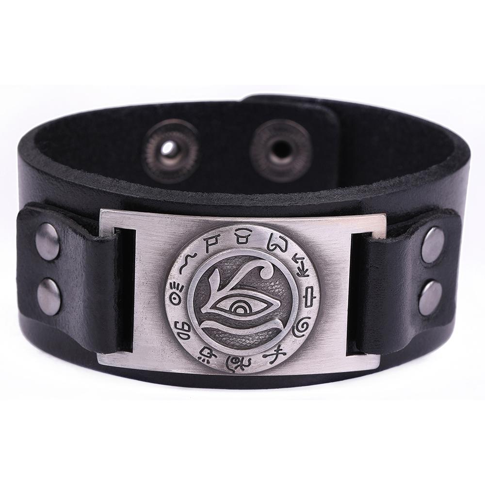 [해외]Dawapara  가죽 팔찌 UniWristband 쥬얼리 악마의 종교 팔찌/Dawapara Genuine Leather Bracelet Evil Eye Religious Bangles for UniWristband  Jewelry