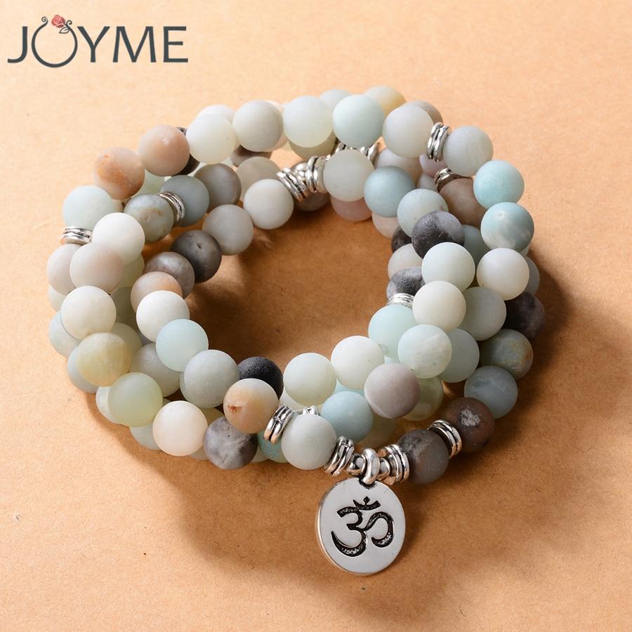 [해외]108 구슬 8mm 자연석 불교 불상 팔찌 여성을남자기도 YogaLotus 옴 부처님 매력 묵주 장식/108 Beads 8mm Natural Stone Buddhist Buddha Bracelet For Women Men Prayer YogaLotus Ohm B