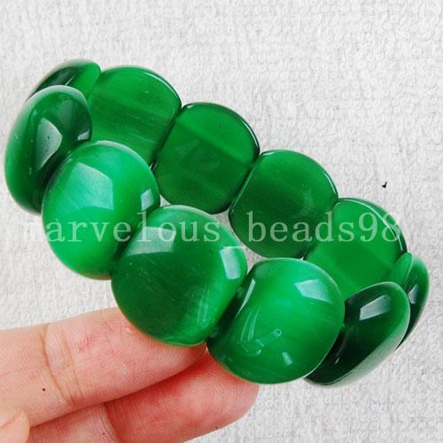 [해외]?패션 주얼리 공작석 녹색 오팔 비즈 스트레치 팔찌 7 & FG0825/ Fashion Jewelry Malachite Green Opal Beads Stretch Bracelet  7& FG0825