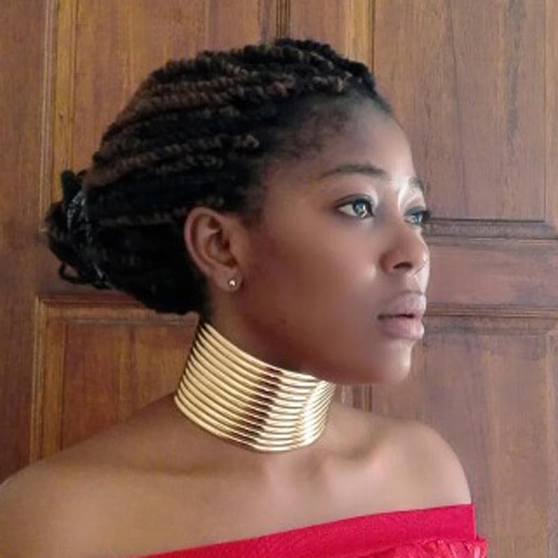 [해외]UDDEIN 목걸이 / 팔찌 세트 골드 컬러 가죽 초커 Vintage Statement 초커 목걸이 & amp; 목걸이 펜던트 맥시 보석 세트 목걸이/UDDEIN Necklace / Bracelet Sets Gold Color Leather Chokers