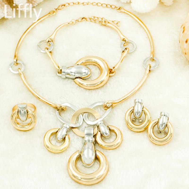 [해외]2018 패션 명품 두바이 보석 웨딩 파티 쥬얼리 액세서리 골드 자물쇠 모양의 목걸이 여성 두바이 브라 쥬얼리 세트/2018 Fashion Luxury Dubai Jewelry Wedding Party Jewelry Accessories Gold Lock-sha