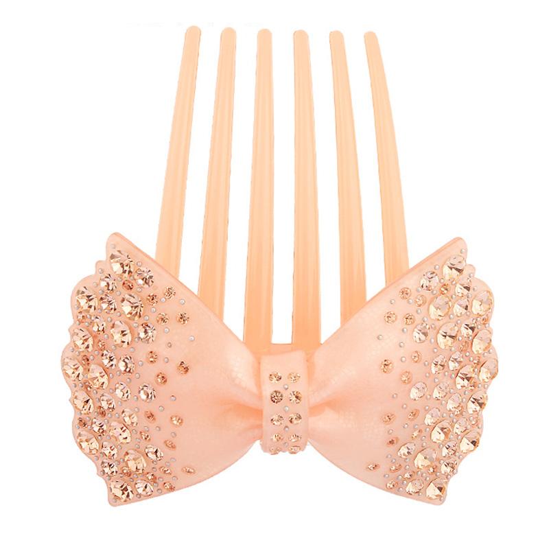 [해외]손으로 만든 핑크 라인 석 헤어 액세서리 빗 셀루 로스 아세테이트 럭셔리 헤어 쥬얼리 빗 Retail 선물/Hand Made pink Rhinestone Hair Accessories Comb Cellulose Acetate Luxury hair Jewelry
