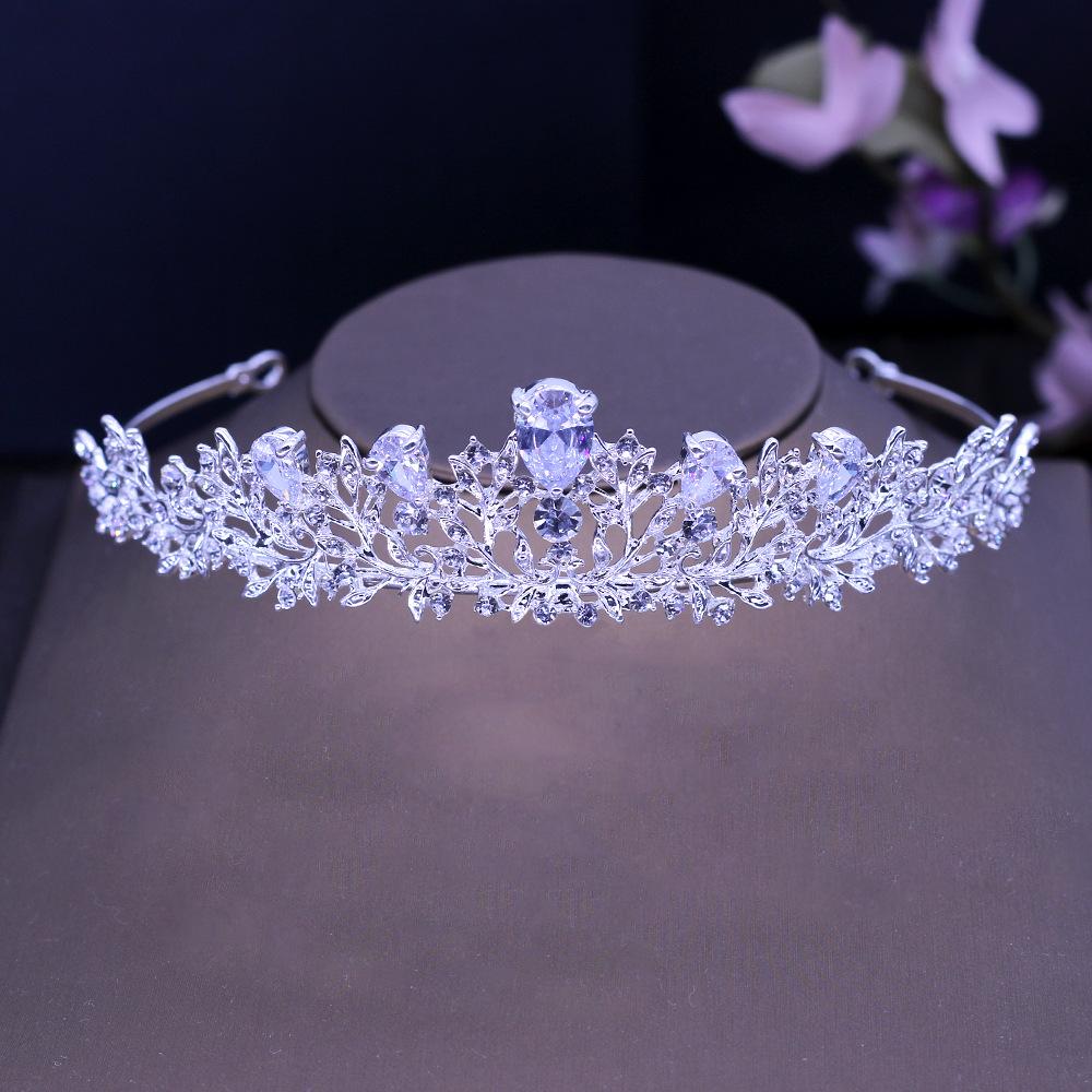 [해외]놀라운 아트 데코 크리스탈 라인 스톤 합금 큐빅 지르콘 웨딩 티아라 CZ 브라 이어 퀸 프린세스 회당 파티 크라운 들러리/Stunning Art Deco Crystals Rhinestones Alloy Cubic Zircon Wedding Tiara CZ Bri