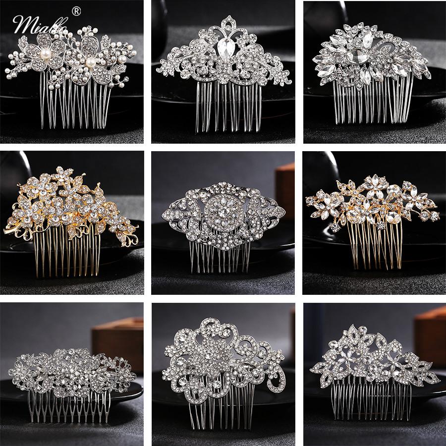 [해외]Miallo 각종 작풍 신부 머리 빗 결혼식 머리 부속품 오스트리아 수정 같은 머리 보석 여자 Hairpieces 머리핀/Miallo Various Styles Bridal Hair Combs Wedding Hair Accessories Austrian Crys